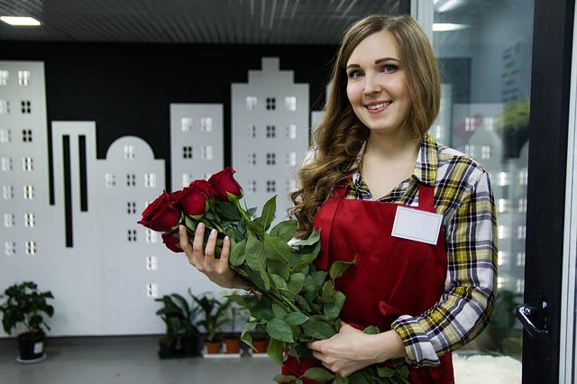 prodavačka květin