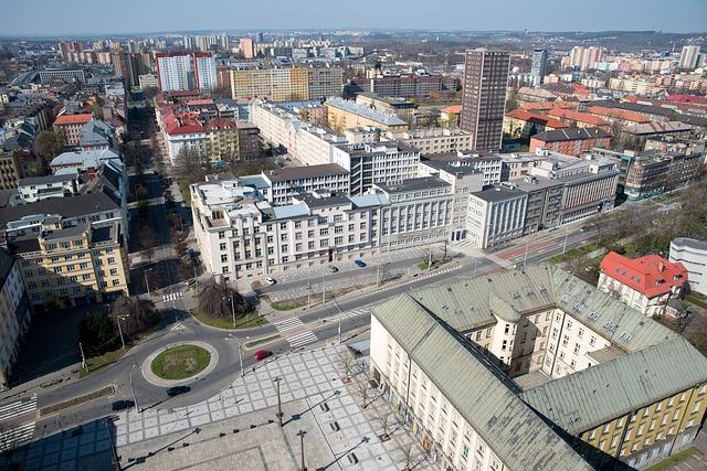 výhled na město Ostrava